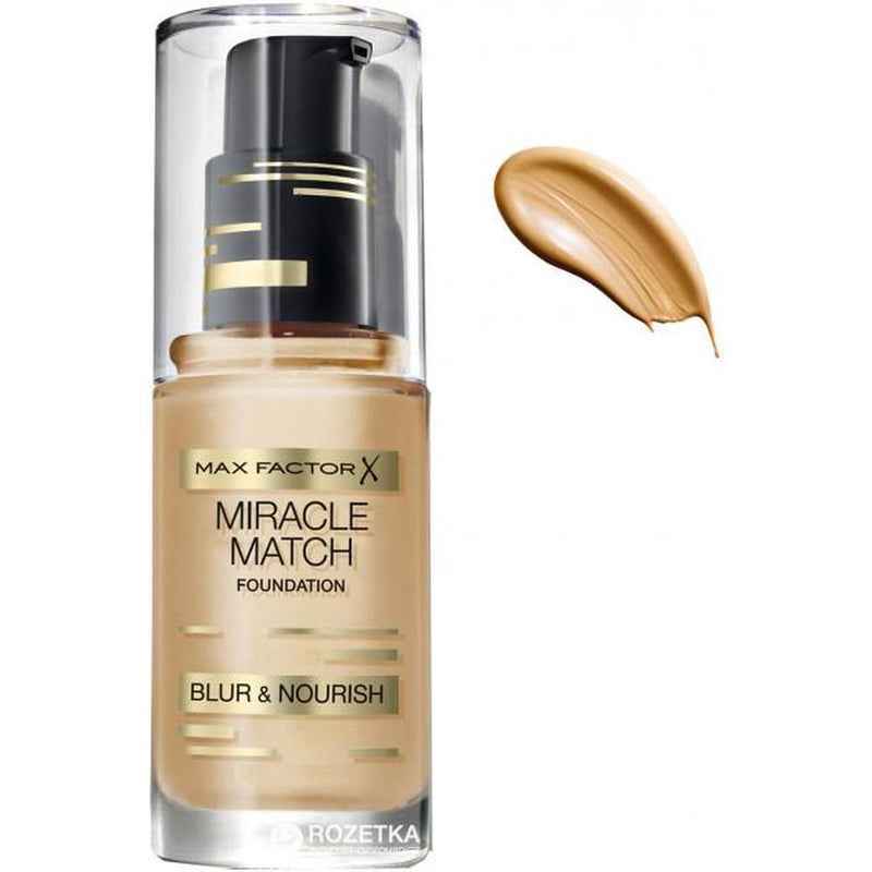 Max Factor Miracle Match Blur & Nourish Foundation - 60 Sand-Max Factor-FACE-Foundation-NZOutlet