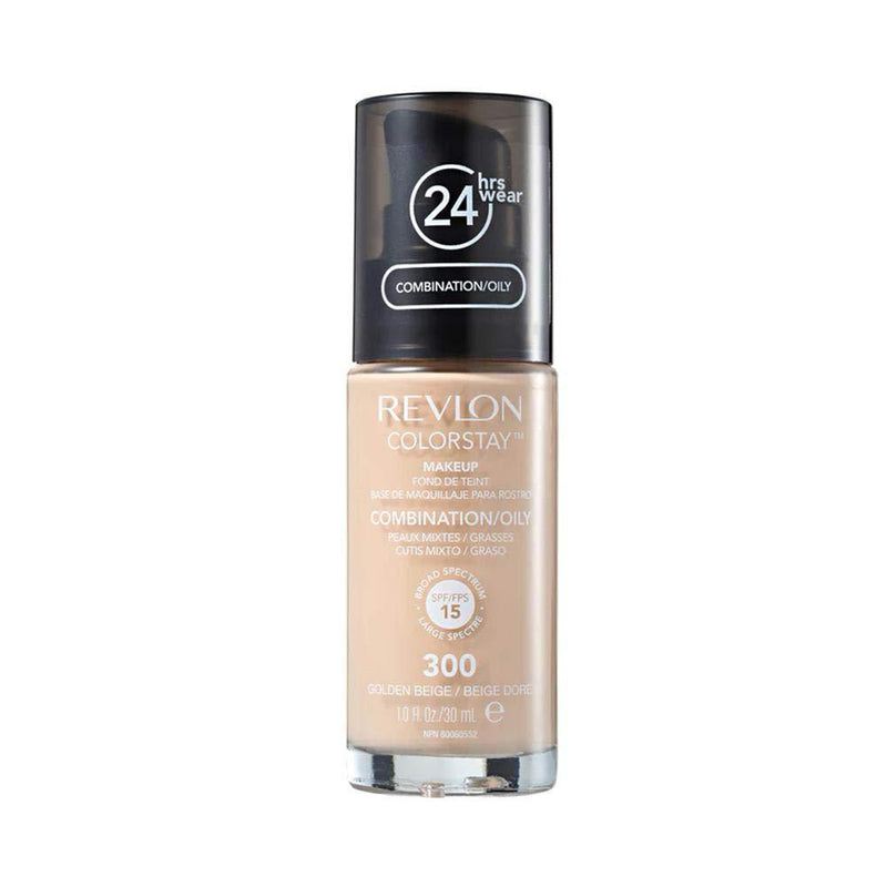 Revlon Colorstay Make Up Combination/Oily Foundation - 300 Golden Beige With Pump-Revlon-FACE-Foundation-NZOutlet