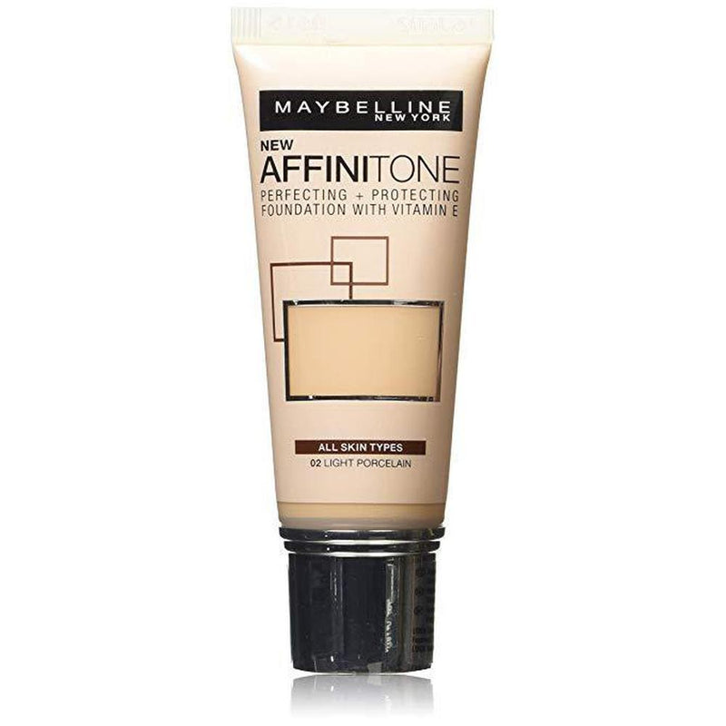 Maybelline Affinitone Perfecting + Protecting Foundation With Vitamin E - 02 Light Porcelain-Maybelline-FACE-Foundation-NZOutlet