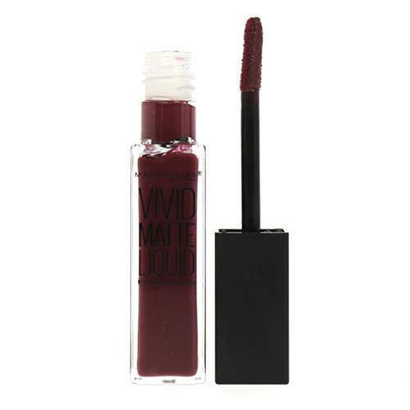 Maybelline Lip Vivid Matte Liquid - 45 Possessed Plum-Maybelline-LIPS-Lipstick-NZOutlet