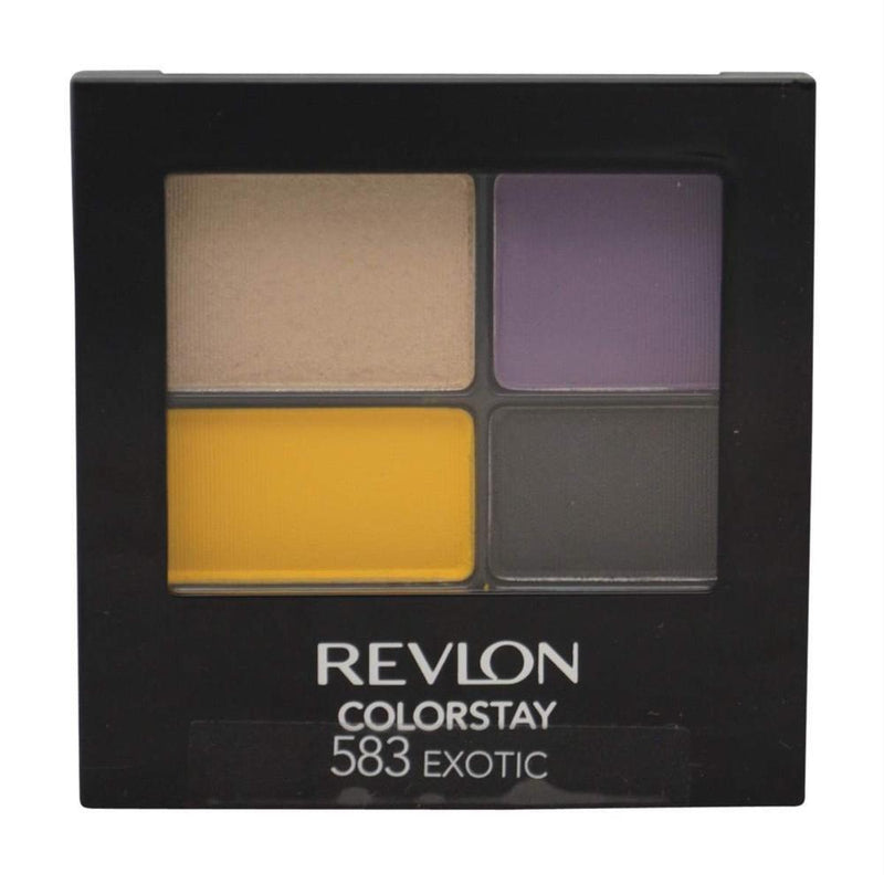Revlon Colorstay 16 Hour Eye Shadow Quad - 583 Exotique-Revlon-EYES-Eyeshadow-NZOutlet