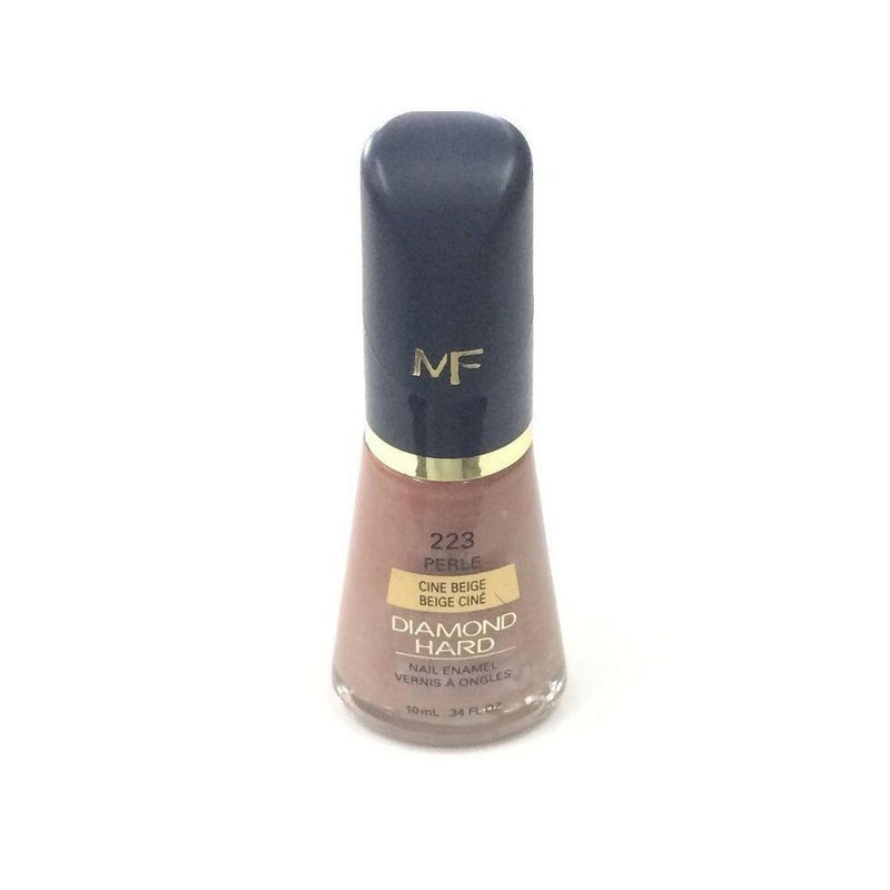 Max Factor Perle Diamond Hard Nail Enamel Nail Polish - 223 Cine Beige-Max Factor-NAILS-Nail Polish-NZOutlet