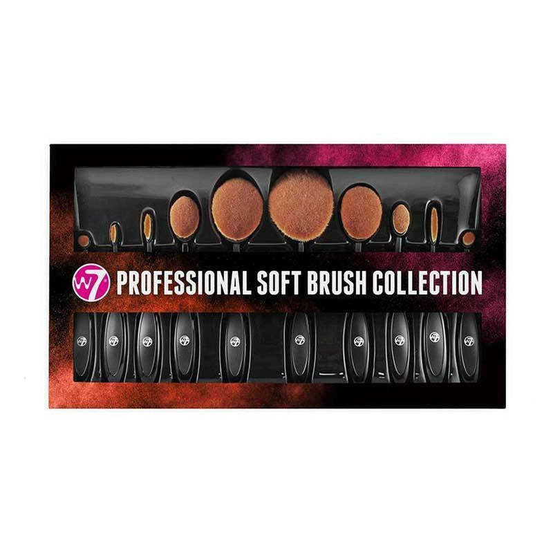 Professional Soft Brush 10Pc Collection By W7-W7-TOOLS-Brush Set-NZOutlet