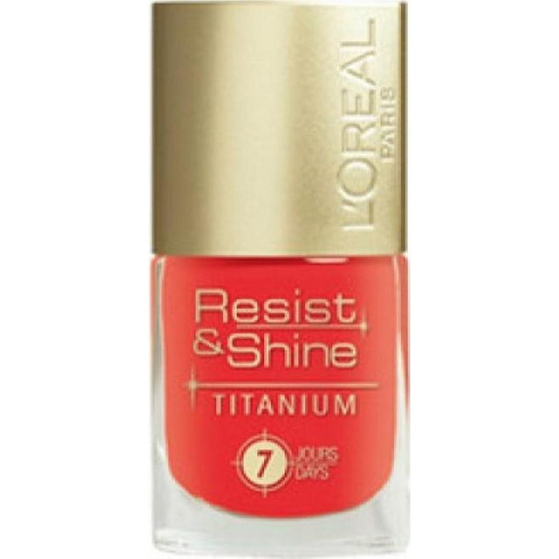L'Oreal Resist & Shine Tatanium Nail Polish - 505 Sanguinello-L'Oreal Paris-NAILS-Nail Polish-NZOutlet