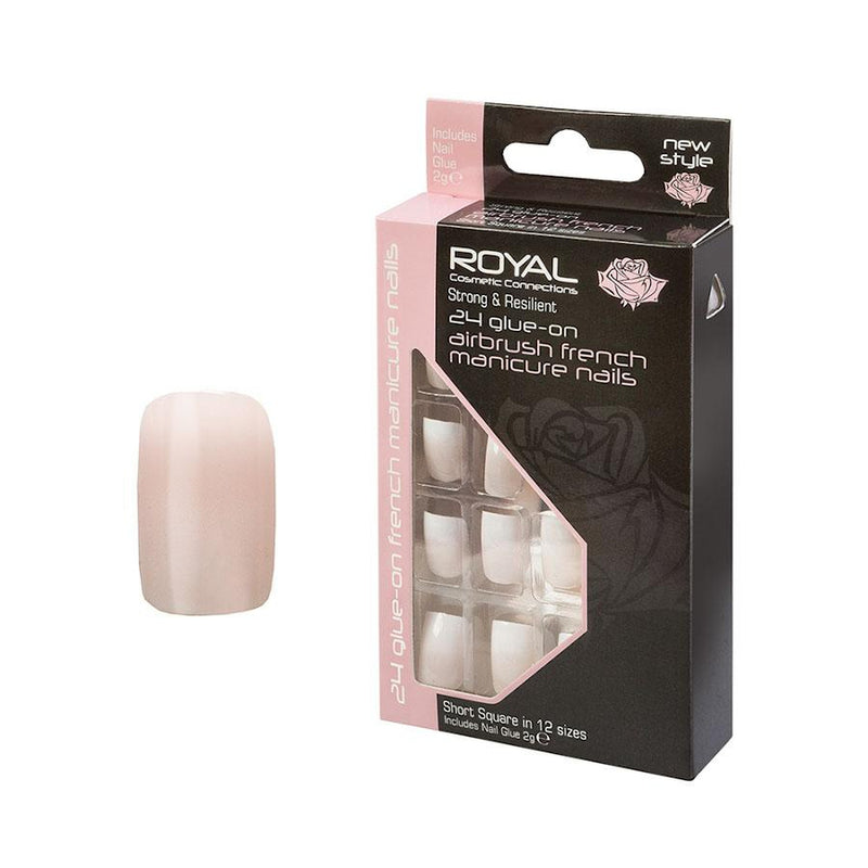 Royal 24 Airbrush French Mani Nail Tips + Glue