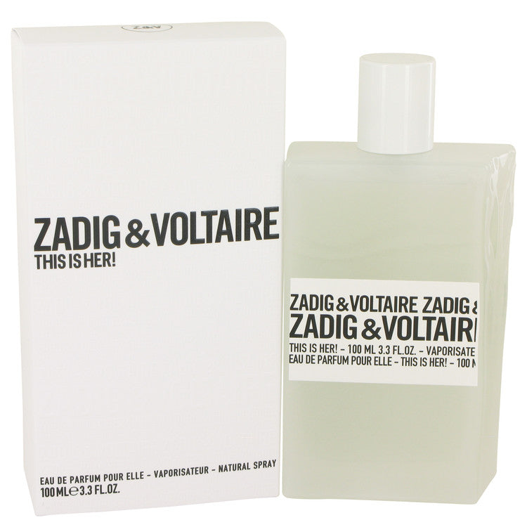 This is Her by Zadig & Voltaire - Eau De Parfum Spray 3.4 oz (100 ml)(W)