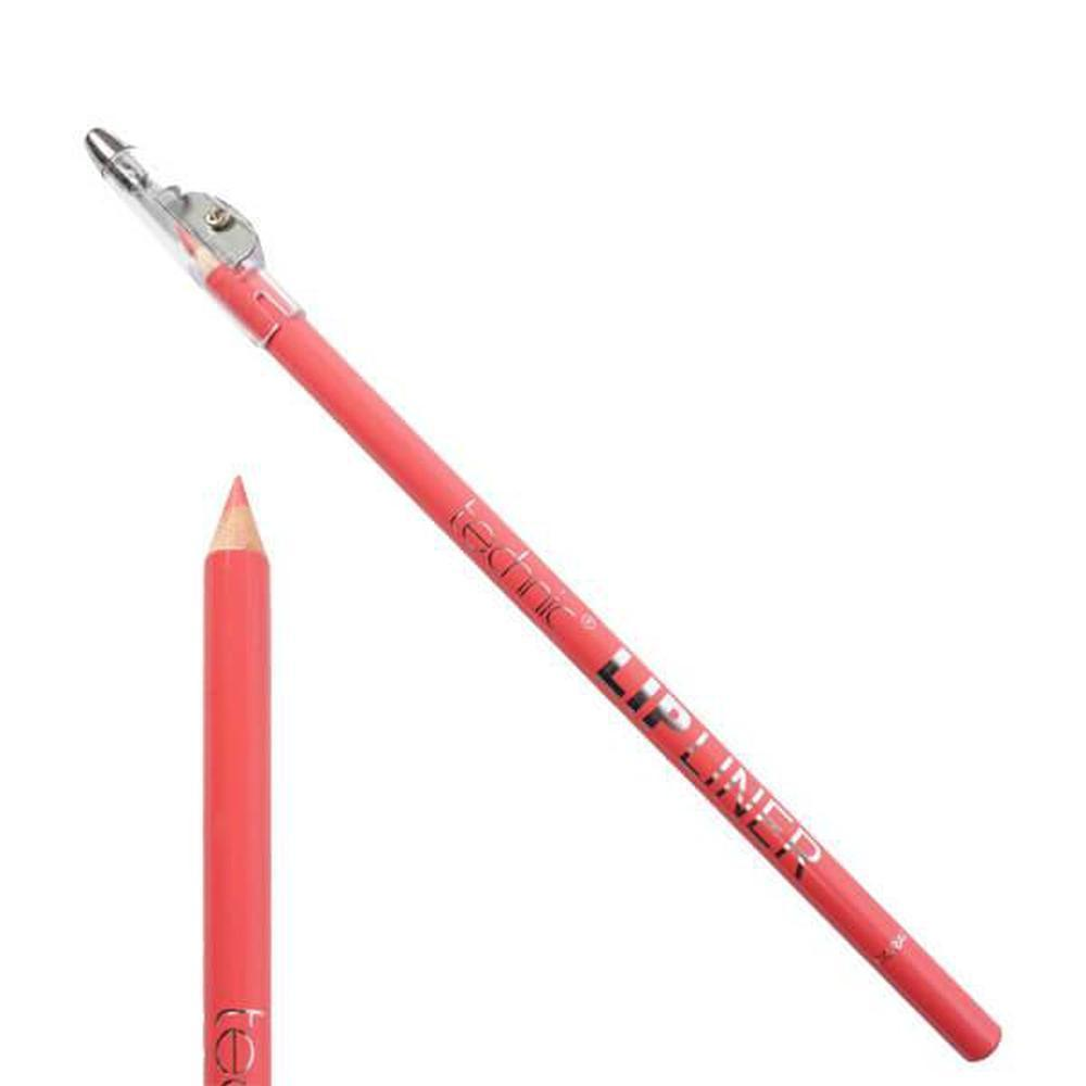 Lip Liner Pencil & Sharpener By Technic - Coral-Technic-LIPS-Lip Liner-NZOutlet