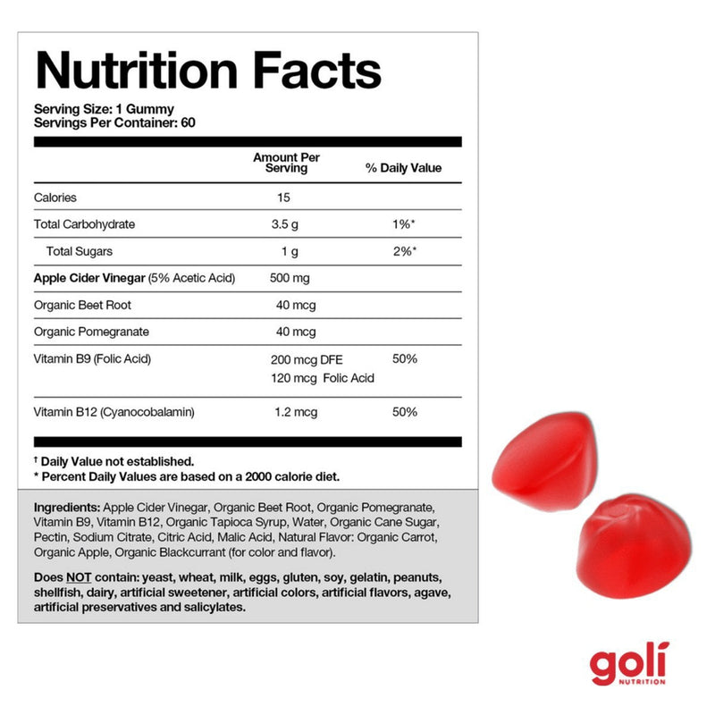 GOLI Apple Cider Vinegar Gummies - Dietary Supplement-GOLI Nutrition-Supplements - Dietary-NZOutlet