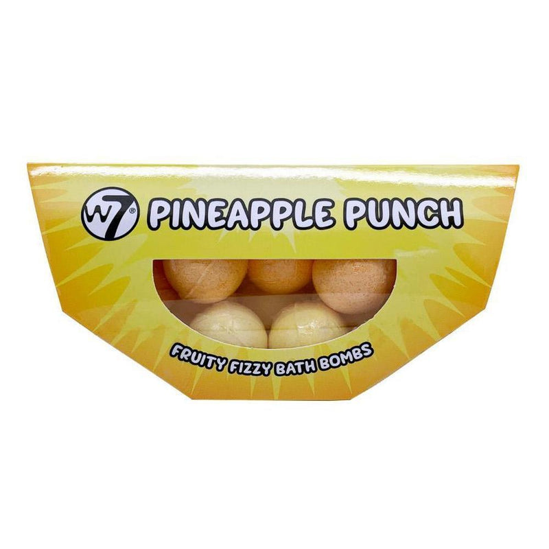 W7 Pineapple Punch Fruity Fizzy Bath Bombs-W7-BODY-Bath Bomb-NZOutlet