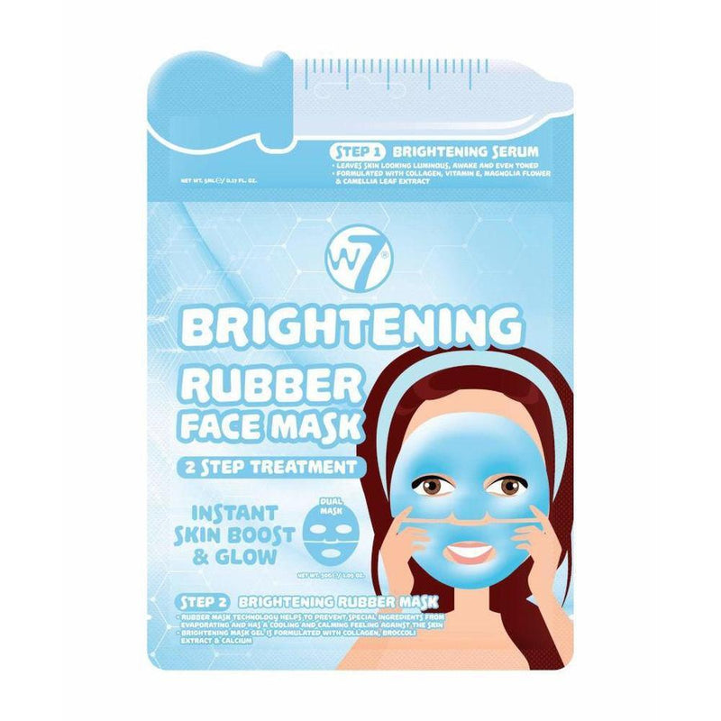 W7 Brightening 2 Step Treatment RuBBer Face Mask-W7-SKIN-Face Mask-NZOutlet