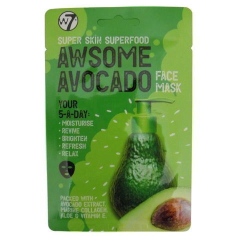W7 Super Skin Superfood Awsome Avocado Face Mask-W7-SKIN-Face Mask-NZOutlet