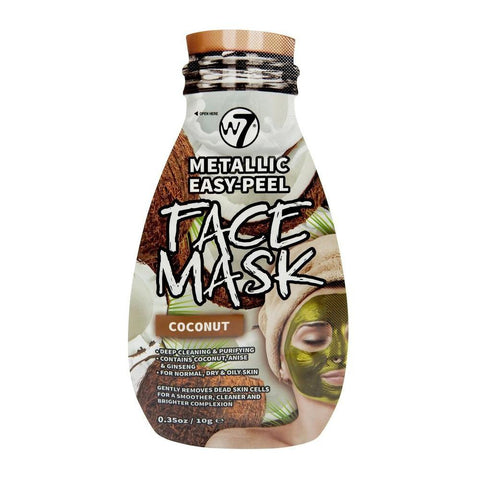 W7 Metallic Easy - Peel Coconut Face Mask-W7-SKIN-Face Mask-NZOutlet