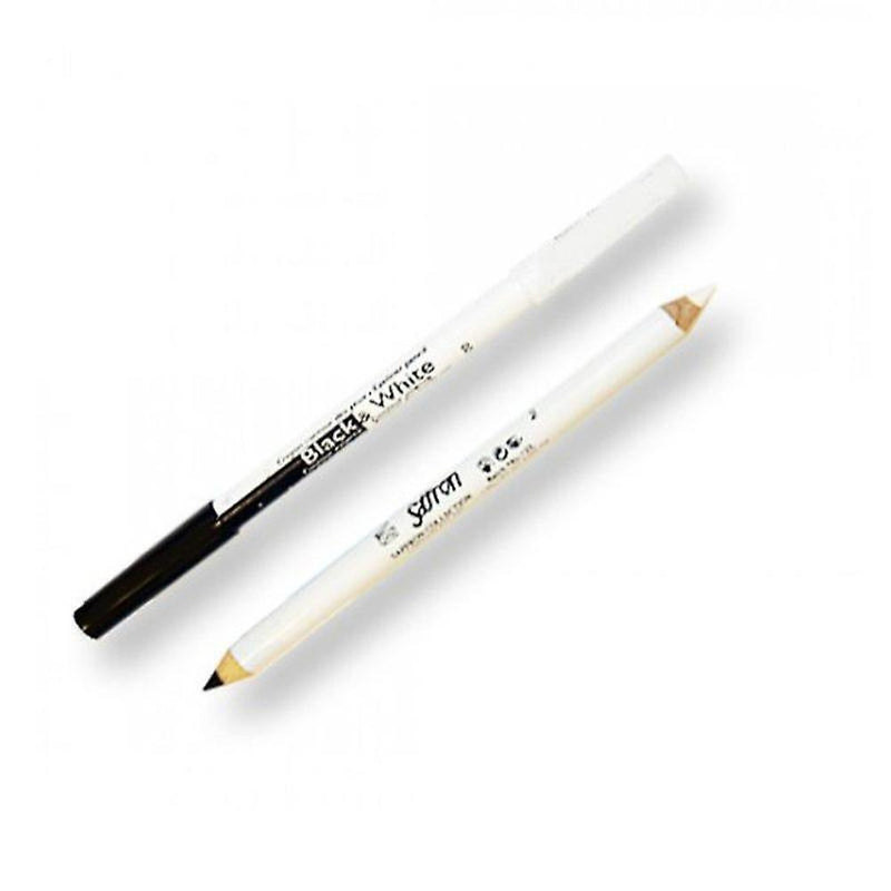 Saffron Black & White Eyeliner Pencil-Saffron-EYES-Eye Liner-NZOutlet