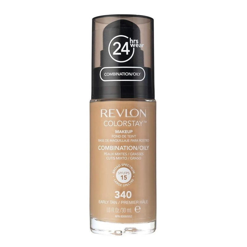 Revlon Colorstay Make Up Combination/Oily Foundation - 340 Early Tan With Pump-Revlon-FACE-Foundation-NZOutlet