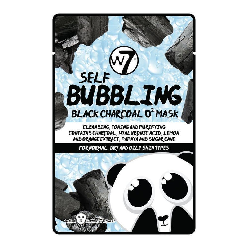 W7 Self BuBBling Black Charcoal O2 Mask-W7-SKIN-Face Mask-NZOutlet