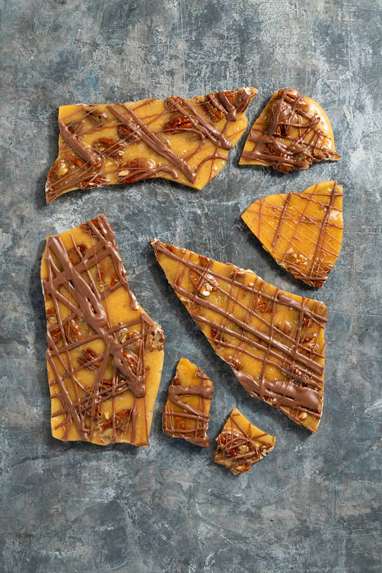 Pecan + Milk Chocolate Brittle 150g