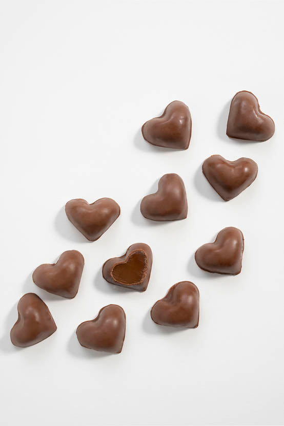 Chocolate dipped Salted Caramel Heart each