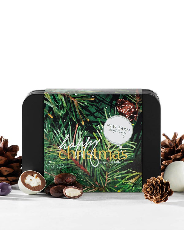 Christmas Chocolate Coated Mix Panned Tin 200g
