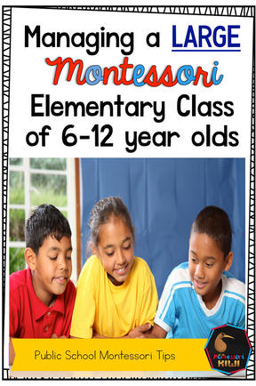 Three tips for managing a large Public School Montessori Class