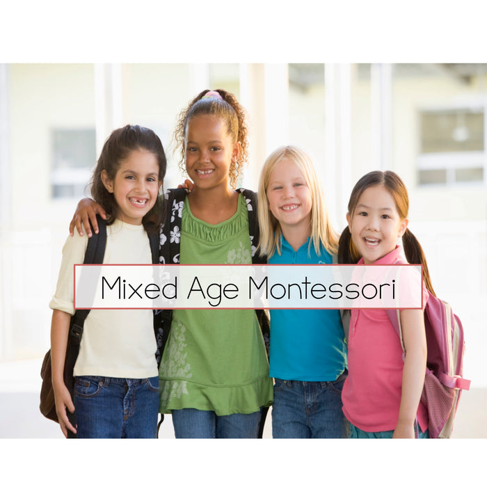 Multi Age classrooms in Montessori