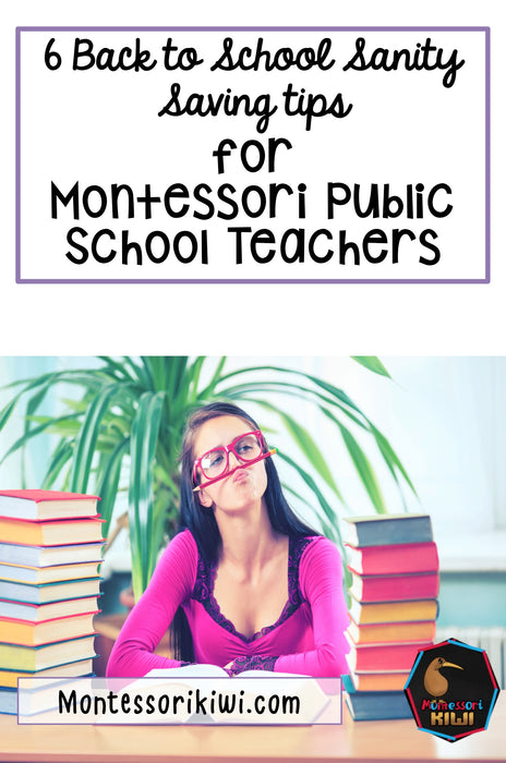 6 Sanity Saving Ideas for Beginning of the Year Montessori Public School