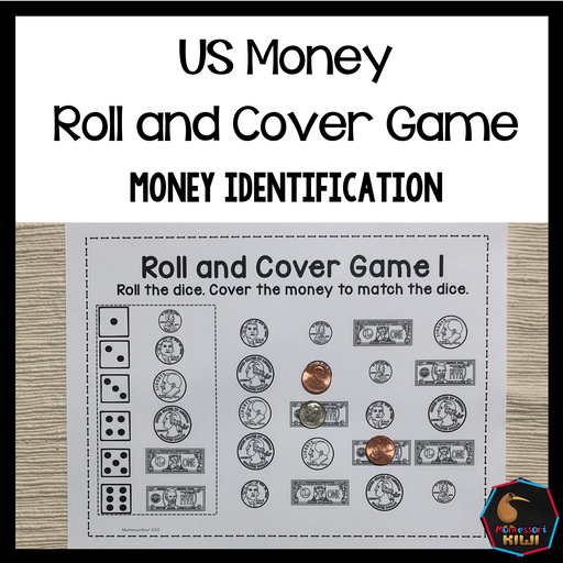 US Money Roll and Cover Game: Money Identification - montessorikiwi