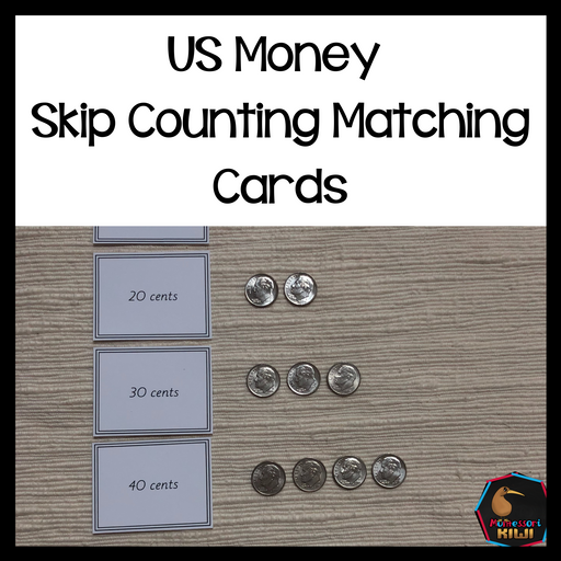 US Money Skip Counting Matching Cards - montessorikiwi