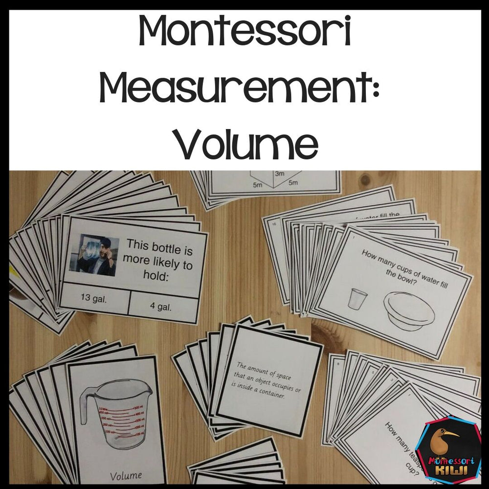 Montessori Measurement: Volume and Capacity - montessorikiwi