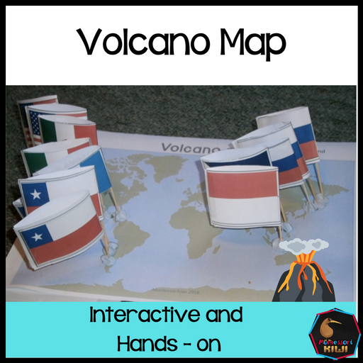 Volcanic Eruptions Map - montessorikiwi