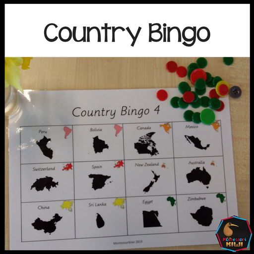 Country Bingo - montessorikiwi