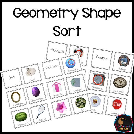 Geometry Shape Sort - montessorikiwi