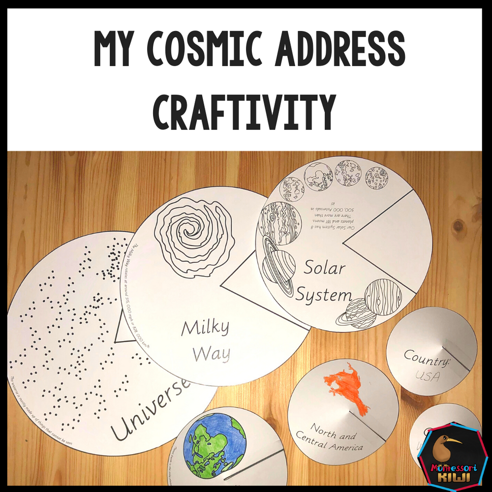 My Cosmic Address (Cosmic Nesting Dolls) - montessorikiwi