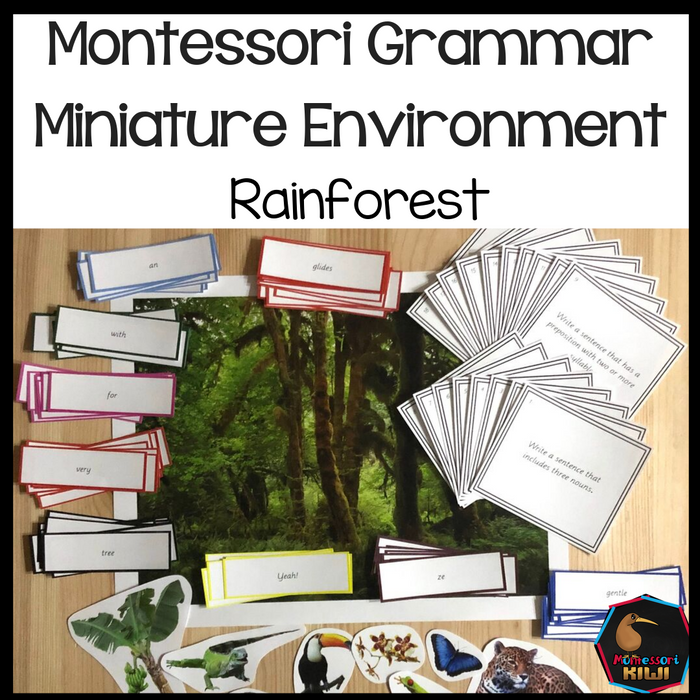 Montessori Miniature Environment: Rainforest - montessorikiwi