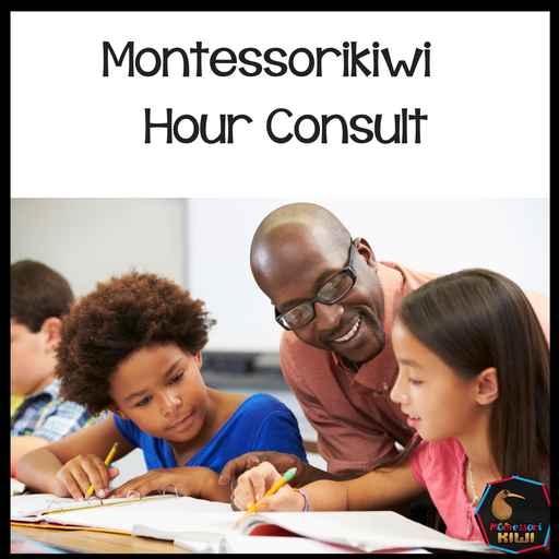 1 Hour long consultation - $50 - montessorikiwi