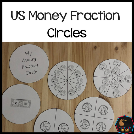 US Money Fraction Circle - montessorikiwi