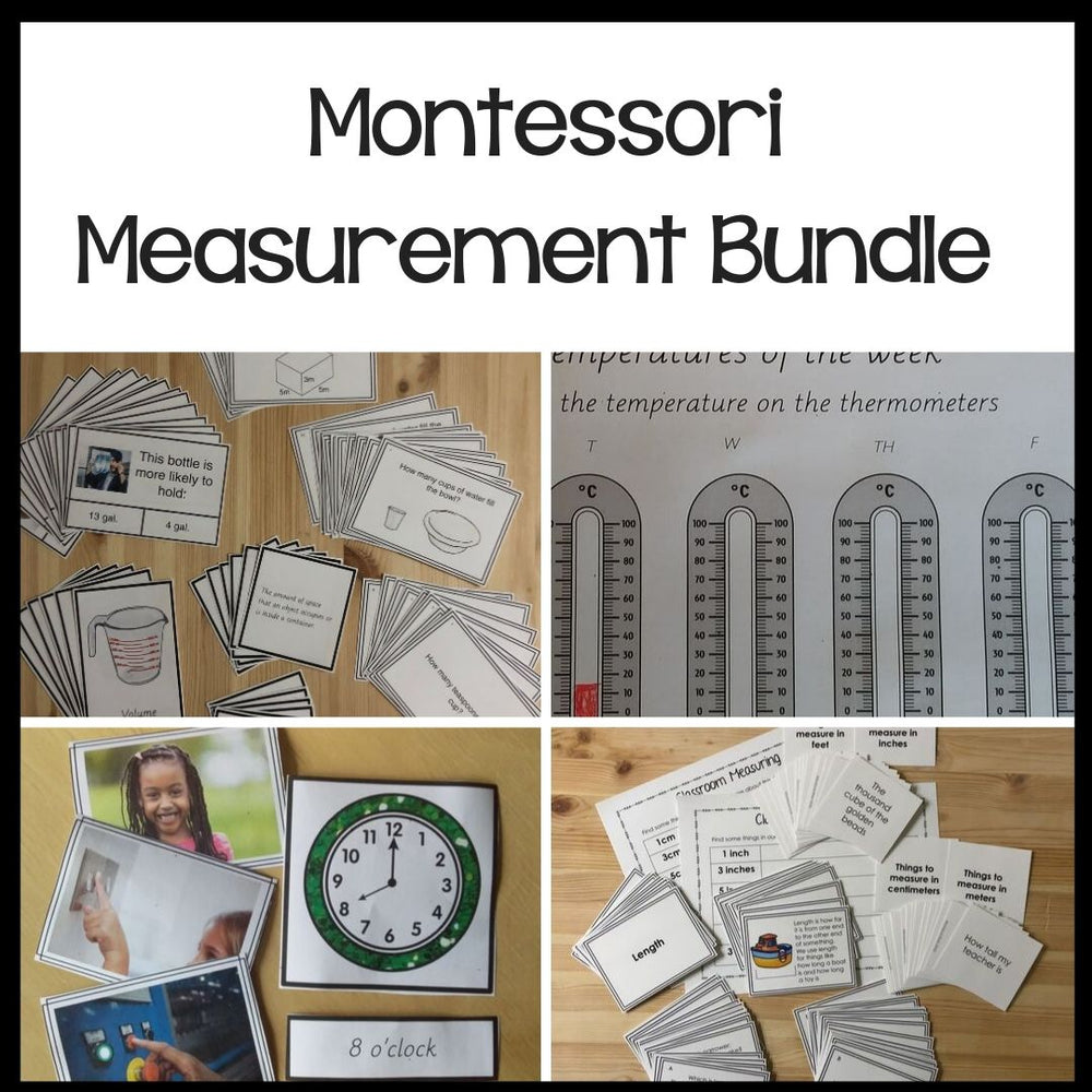 Growing Measurement Bundle - montessorikiwi