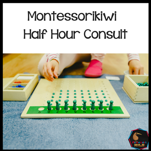 1/2 hour consultation - $30 - montessorikiwi