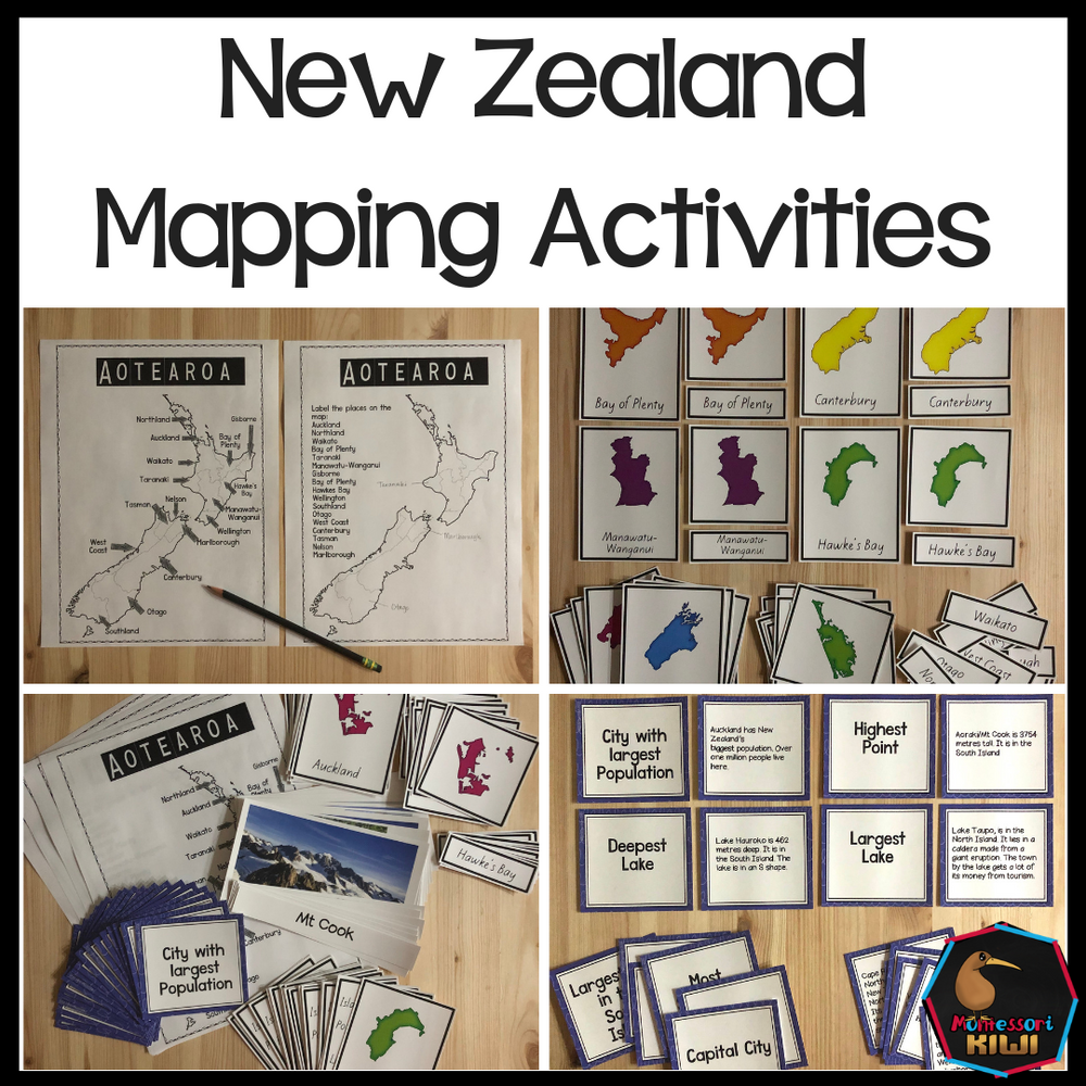 NZ Mapping Activities - montessorikiwi