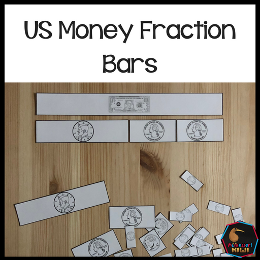 US Money Fraction Bars - montessorikiwi
