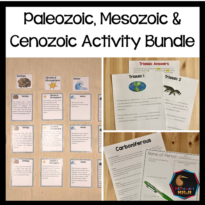 Paleozoic, Mesozoic, & Cenozoic Activities - montessorikiwi