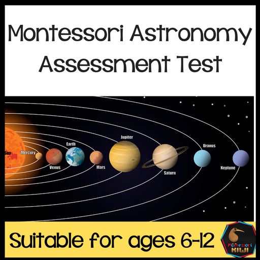 Montessori Astronomy test for assessment - montessorikiwi