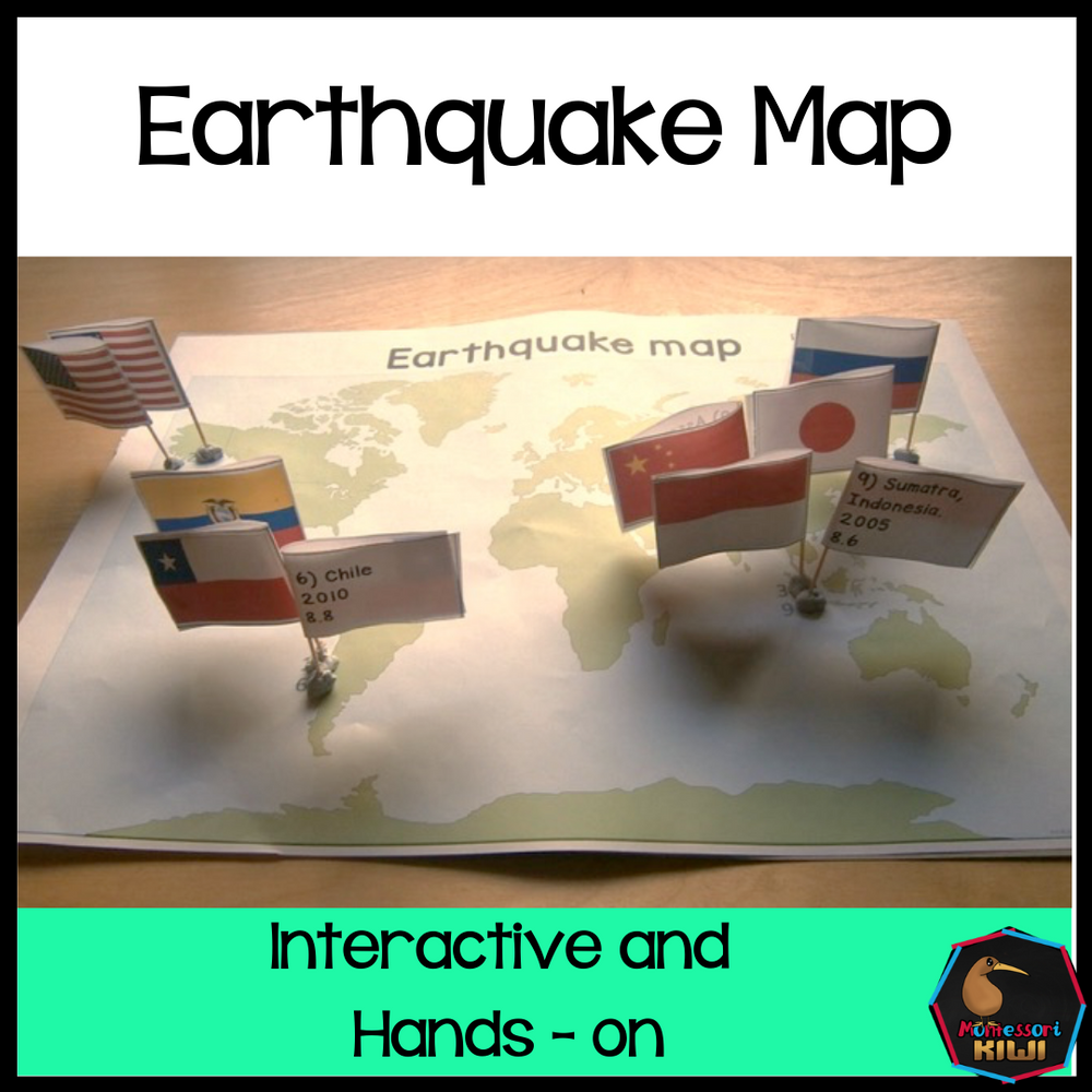 Earthquake Map - montessorikiwi