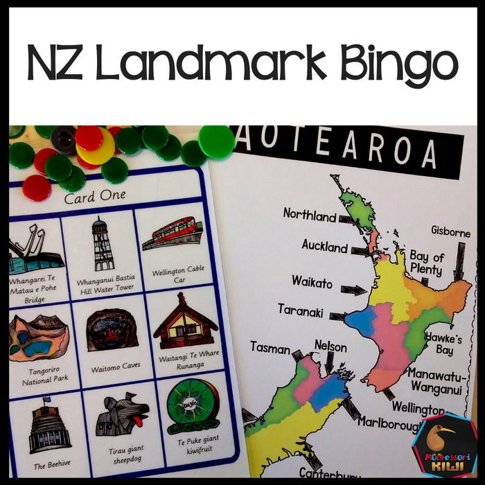 New Zealand Landmark Bingo - montessorikiwi
