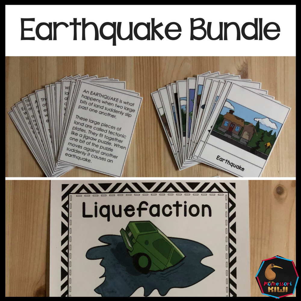 Earthquake Bundle Lesson plans, activities, worksheets - montessorikiwi