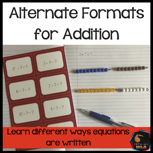 Alternative formats for Addition - montessorikiwi