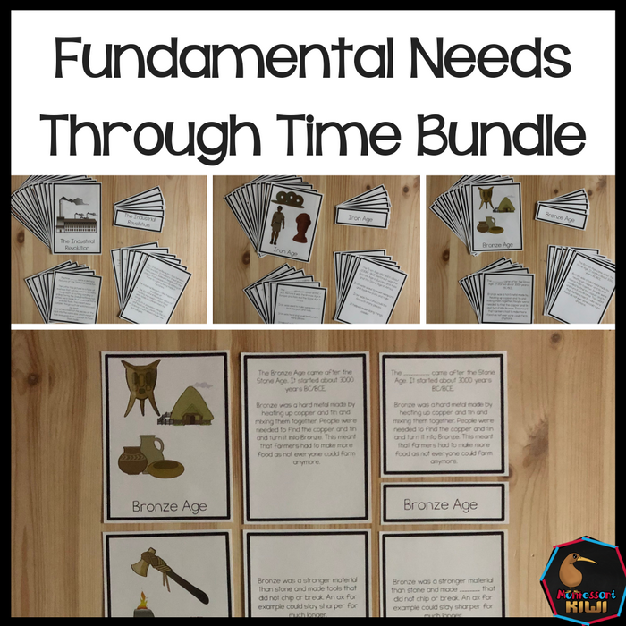 Fundamental Needs Through Time Bundle - montessorikiwi