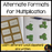 Alternative formats for Multiplication - montessorikiwi