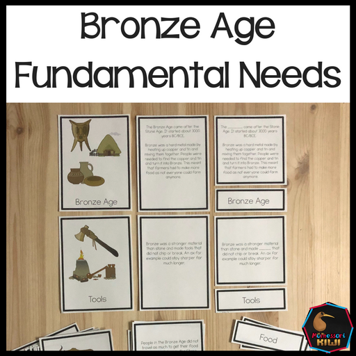 Fundamental needs through time: Bronze Age - montessorikiwi