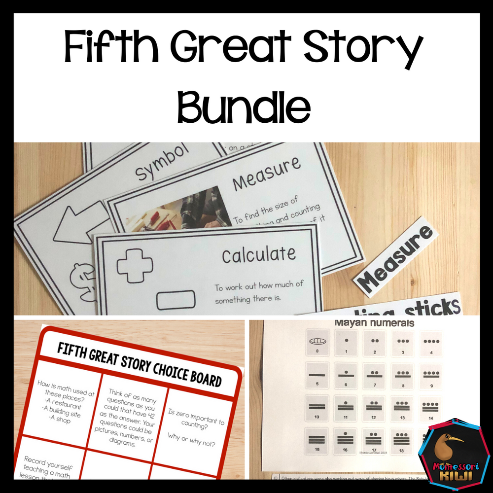 Montessori Fifth Great Story Bundle - montessorikiwi
