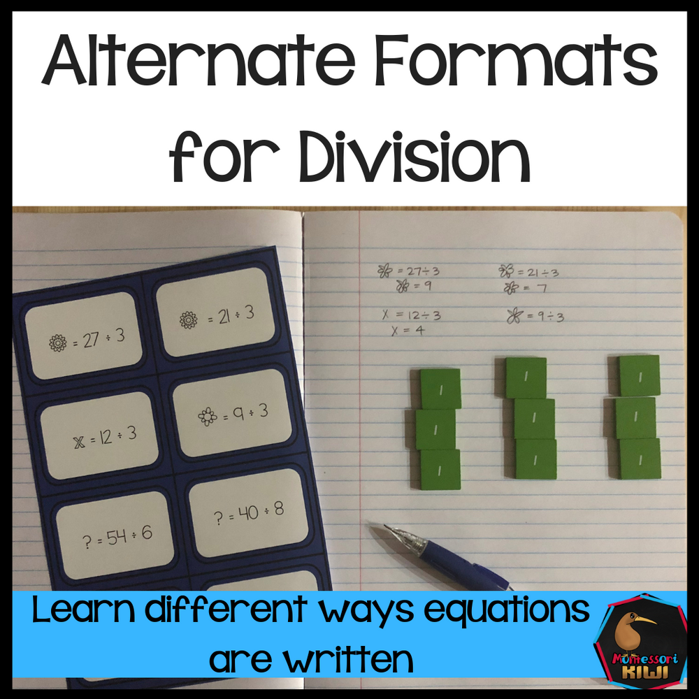 Alternative formats for Division - montessorikiwi